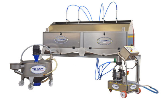 GLAZE, ENGOBE, CHRYSTALLINE APPLICATION SYSTEM