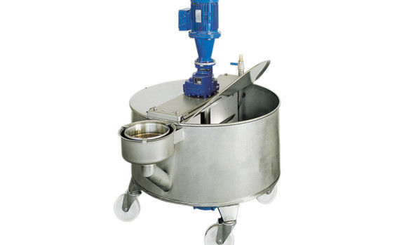 TUB AND STIRRERS WITH BUILT-IN PUMP AND PIT
